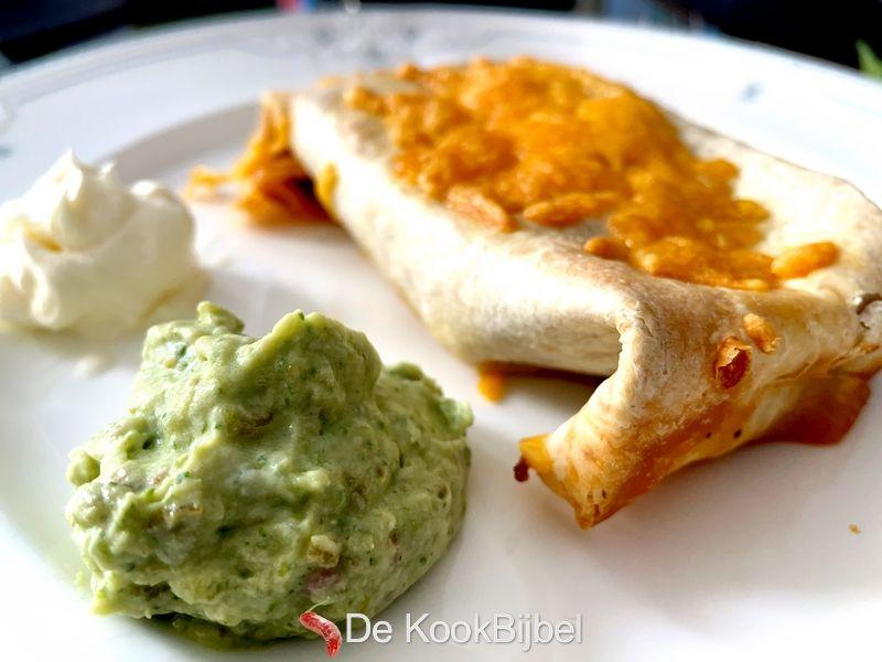 Chimichangas met gehakt en groenten