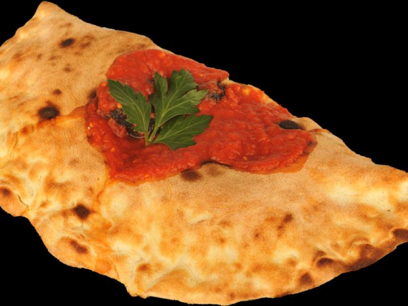Pizza Calzone met italiaanse groenten