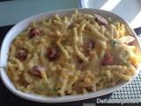 Macaroni met kaassaus en frankfurterworst