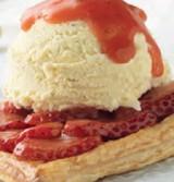 Aardbei-Vanille taart