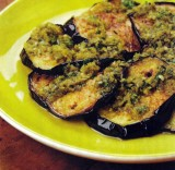 Aubergines met Arabische pesto