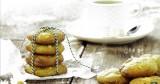 Boterkoekjes met Macha en witte chocolade