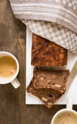 Broodpudding met chocolade en sinaasappel