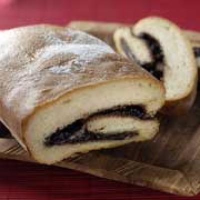 Brood gevuld met chocoladepasta Noir de Noir