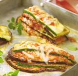 Lasagne van courgette en aubergine