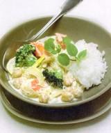 Romige curry met broccoli en kikkererwten