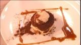 Tiramisu met peperkoek, karamel van koffie, Amaretto en mokka-ijs