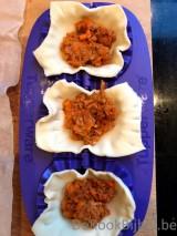 Empanadas met gehakt en zoete aardappel