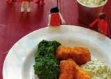 Fish sticks met tartaarsaus en spinaziepuree