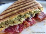 Foccacia Cobourg, Chorizo, Mozzarella en Pesto