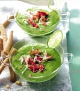 Groene gazpacho met krab