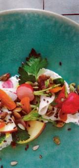 Crème van geitenkaas en gemarineerde groenten