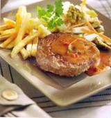 Hamburger 'Stroganoff' met witlofsalade
