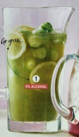 Groene ijsthee met komkommerparels