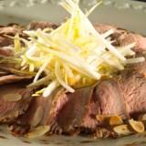 Carpaccio van kalfsvlees met witloofsalade