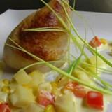 Kip met aardappelrisotto
