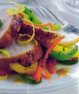 Gewokte kip met paprika en citroenzeste