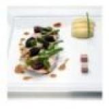 Gebakken kippenborst met tuinbonen en morilles, natuurlijke jus met kruiden