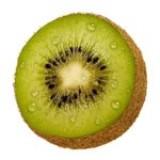 Kiwi met parmaham