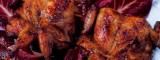 Gebakken kwartel met toast champignon en stiltonjus