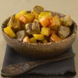 Aardappelwok met lamsvlees