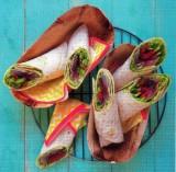 Burrito's met gegrilde makreel en guacamole