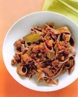 Chocolade pasta met wildsaus