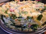 Pastataart met mortadella, spinazie en bloemkool