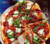 Pizza pancetta-mozzarella