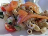 Quinoa pasta met Boursin, courgette en gerookte zalm