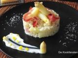 Risotto met asperges, citroen en Breydelspek