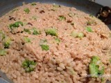 Risotto met broccoli en chorizo