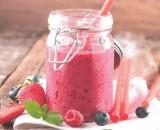 Smoothie van rood fruit