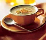 Pikante soep met struisvogel reepjes