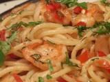 Spaghettini met garnalen