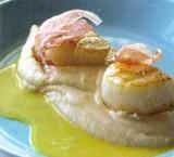 Crème van boerentenen en coquilles met jus van kardoen en pancetta
