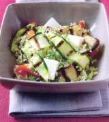 Taboulé met gegrilde courgette en aubergine