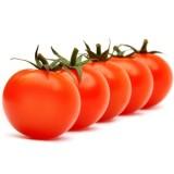 Vanilleroomijsdessert met geconfijte tomaten