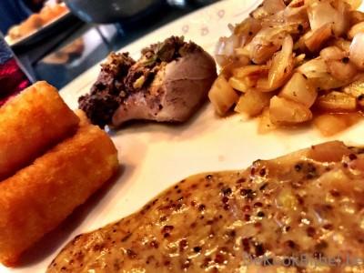 Varkesnhaasje met pistache en mosterd