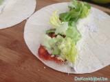 Wrap met chorizo en kruidenkaas