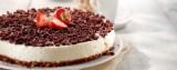 Witte chocoladetaart met roomkaas